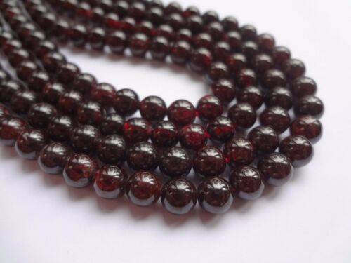 Half Strand 6mm Natural Garnet Round Gemstone Beads 31pcs