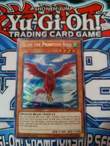 Yugioh Glife The Phantom Bird BLRR SECRET RARE 1ST EDITION VLP