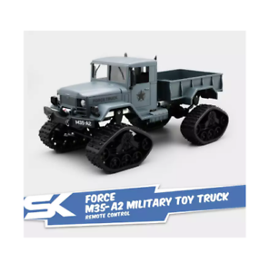 FY001-Military-Truck-Crawler-Remote-Control-Car-with-700MAh-6-0V-Blue-Gray