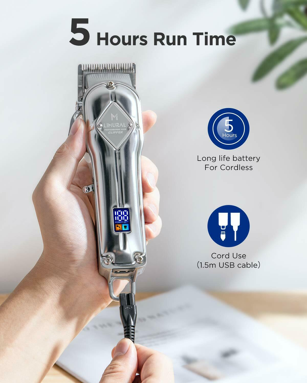 Limural Haarschneider Profi Bartschneider Herren Trimmer Haarschneidemaschine