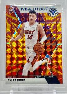 2019-20-Panini-Prizm-Mosaic-Tyler-Herro-Rookie-Card-RC-Orange-Reactive-Miami