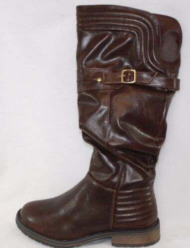NEW Girls Youth Kids STEVE MADDEN JLiliana Brown Synthetic Leather Boots Shoes