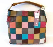 Kooba Multicolor Leather Patchwork Med Hobo Tote Bag Purse