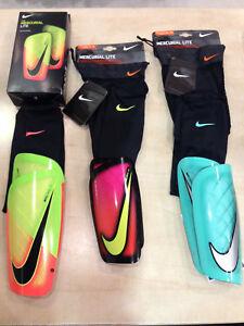 Mercurial Lite Schienbeinschoner Nike Größe L und XL Aktion mit Socken NEU