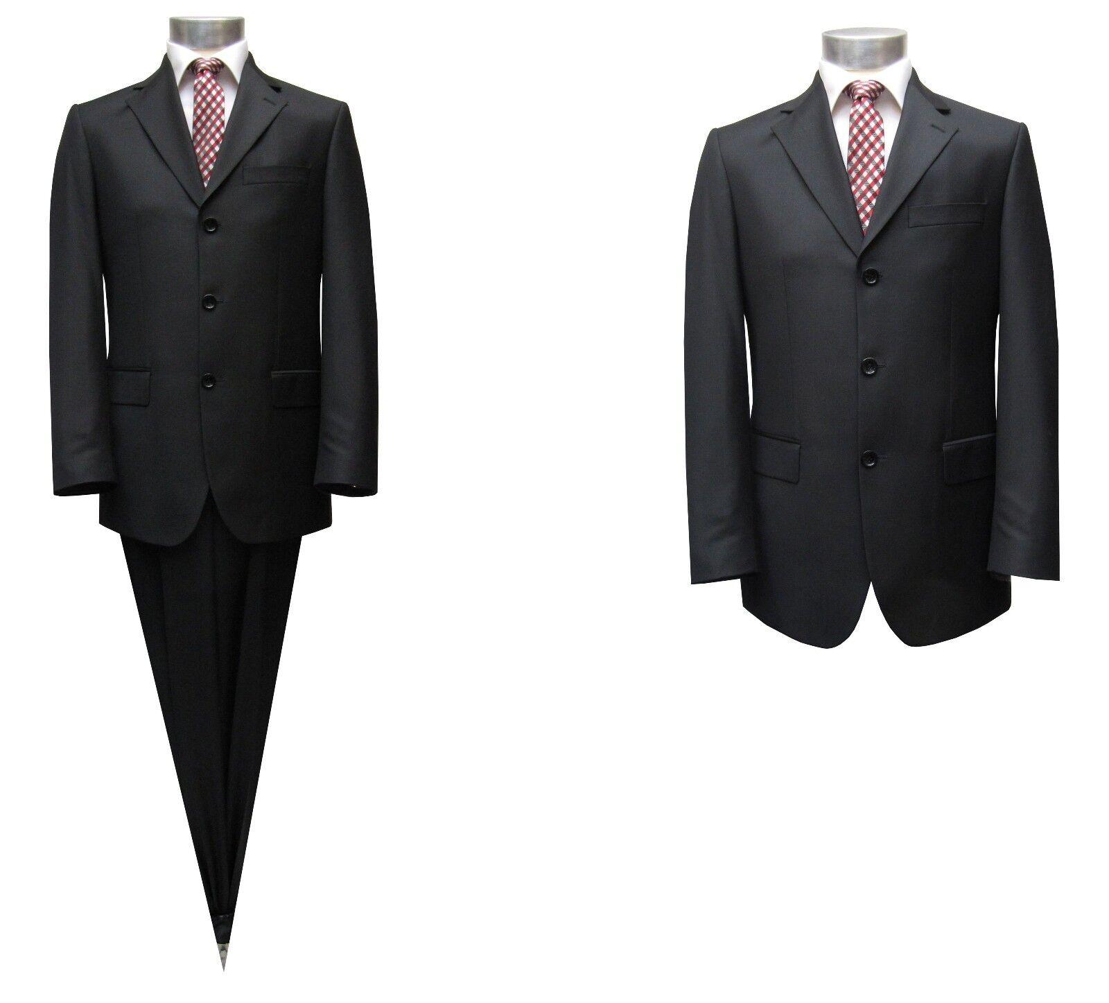 Moderne Herrenanzug Gr.90 Schwarz  | Reichhaltiges Design  | Praktisch Und Wirtschaftlich  | Sale