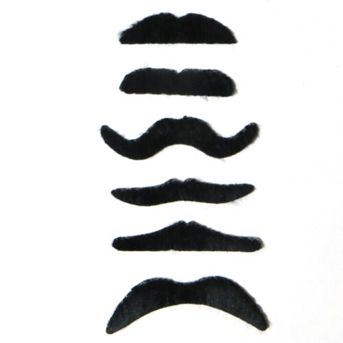 6pcs//lot Costume Party Halloween Fake Mustache Funny Fake Beard Whisker A BSCA