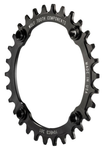 11 New 2016 Wolf Tooth 30t 104BCD Drop-Stop Chainring Black 1 x 10