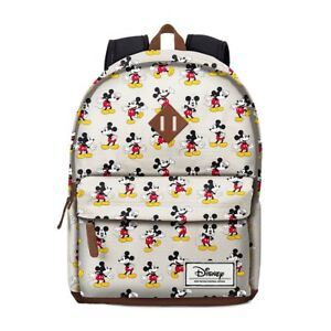 Zaino MICKEY MOUSE DISNEY Beige Unisex Backpack Beige Vintage Design 33607