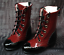 1//3 BJD Shoes Deep Red Supper Boots MID Dollmore Luts AOD DZ MSD High heels