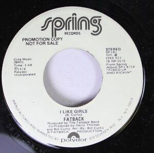 Soul-Funk-Unplayed-45-Fatback-I-Like-Girls-I-Like-Girls-On-Spring-Records