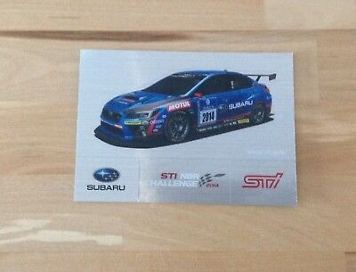 Transport Liefern Aufkleber Sticker Subaru Sti Challenge 2014 10,5x7,5cm Vertrieb Von QualitäTssicherung