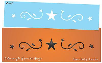 Stencil Star Swirl Fancy Scroll Border Halloween Witch Primitive Art Craft Signs