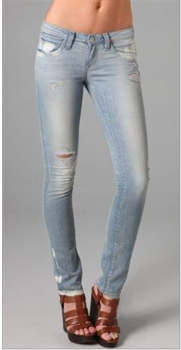 Resin Distressed Light Wash  Catalyst  Skinny Jean - Runs Small  @ Shopbop