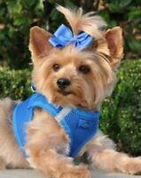 Blue Dog Harness Ultra Choke Free Mesh American River Doggie Design Cobal Stepin