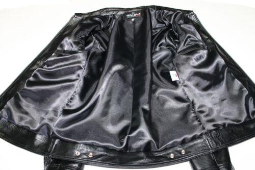 mejor Tamaño a Washed Xl hechos de Fit de los Slim Trendy mano Chaqueta cuero hombres Black italiana qfASZwwPx