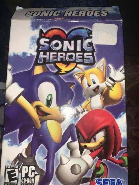 NEW Sonic Heroes PC Computer CD-ROM Game SEALED Sega US NTSC the hedgehog hero