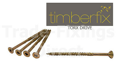6g 3.5mm x 40mm PREMIUM CUTTER THREAD WOOD SCREWS  POZI CSK TIMBERFIX 360 GOLD