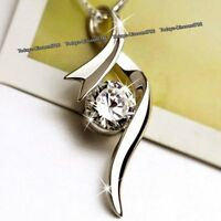Silver Necklace & Moon Crystal Diamond - Xmas Sister Daughter Gift For Her Women