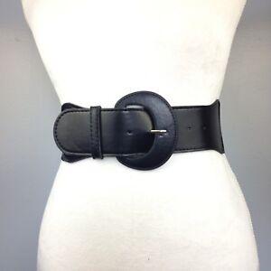 Women-039-s-Brand-New-Black-Fashionable-Wide-Elastic-Stretch-High-Waist-Belt