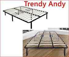 KING Flex Platform Bed Frame With Adjustable Lumbar Support Black Furniture Home