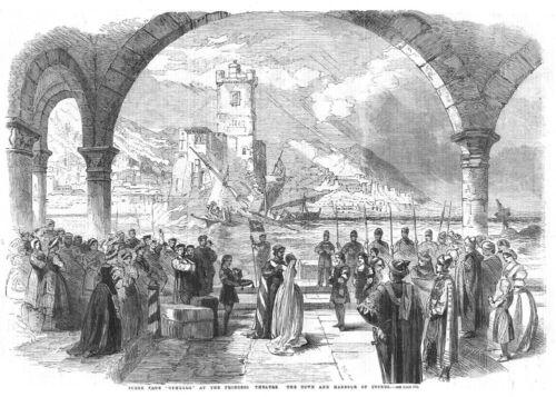 THEATRE Scene from Othello at the Princess Theatre Antique Print 1861