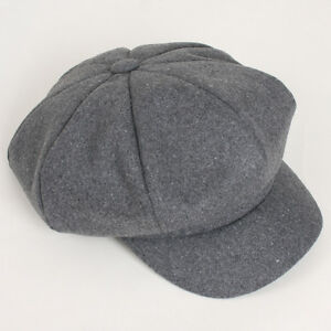 2004a7328b8d3 Details about NEW Unisex 8 Panel Wool Man AHN Applejack Cap Women Newsboy  Gatsby Paperboy Hat