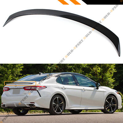 For 2018 2019 Toyota Camry Painted Gloss Black Sport Rear Trunk Lid