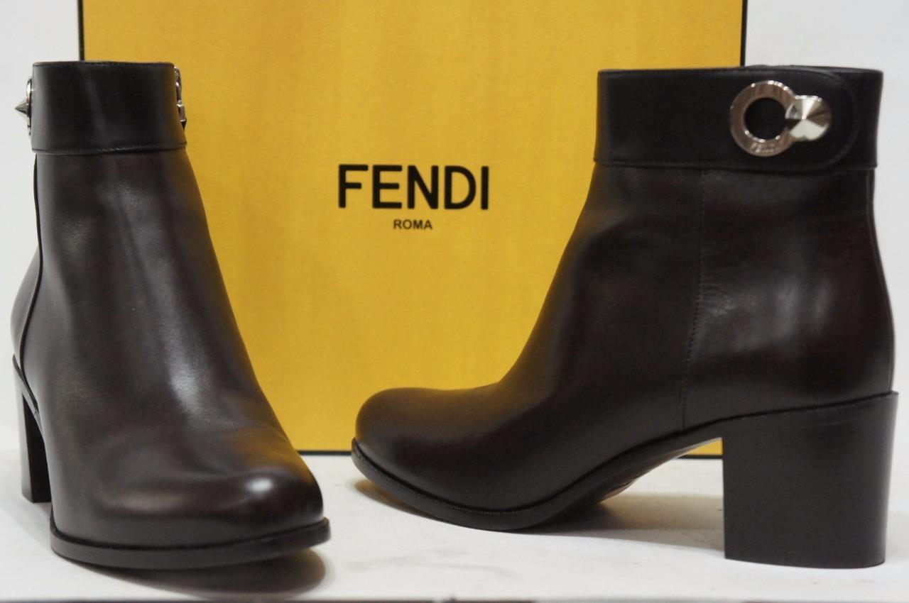 FENDI FarbeBLOCK ANKLE StiefelIE StiefelIE StiefelIE Stiefel 38.5 8  1200 f2c31e