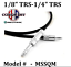 """thumbnail 2 - Conquest Sound Adapter Cord NEUTRIK 1/8"""" Male Stereo to 1/4"""" Male Stereo Cable"""