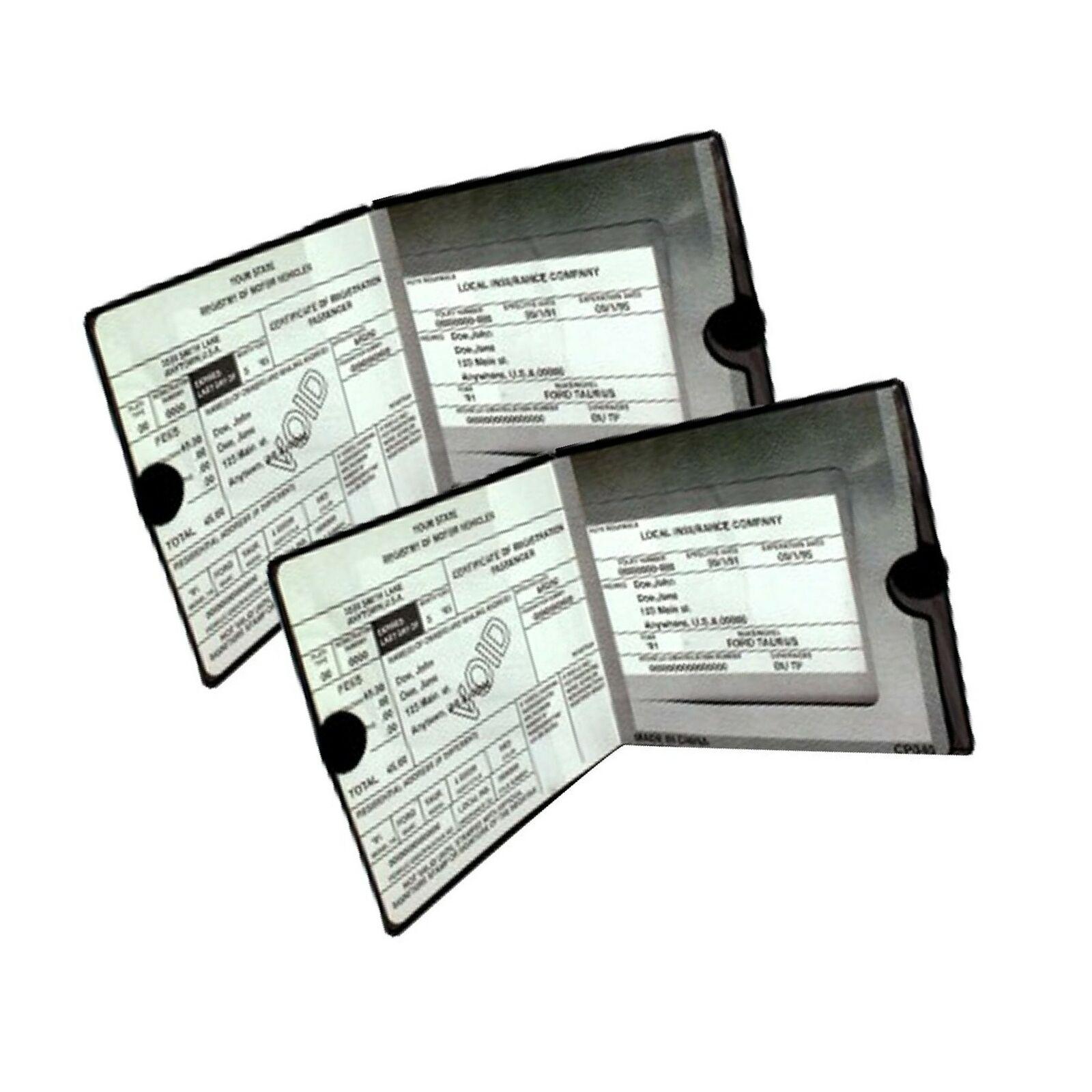 2 un. Coche Auto titulares de la cartera de documentos Negro de registro de seguros
