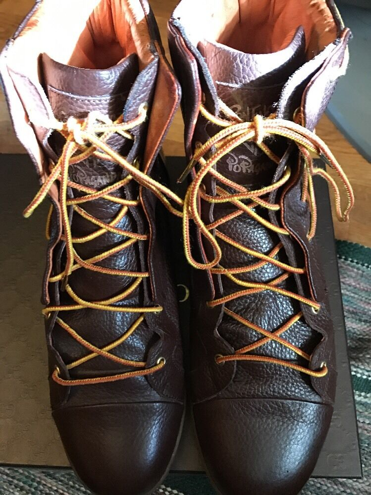 Velveton LTD Brown Pebble Military Boot Exclusive Ron English X Jump Design Sz13