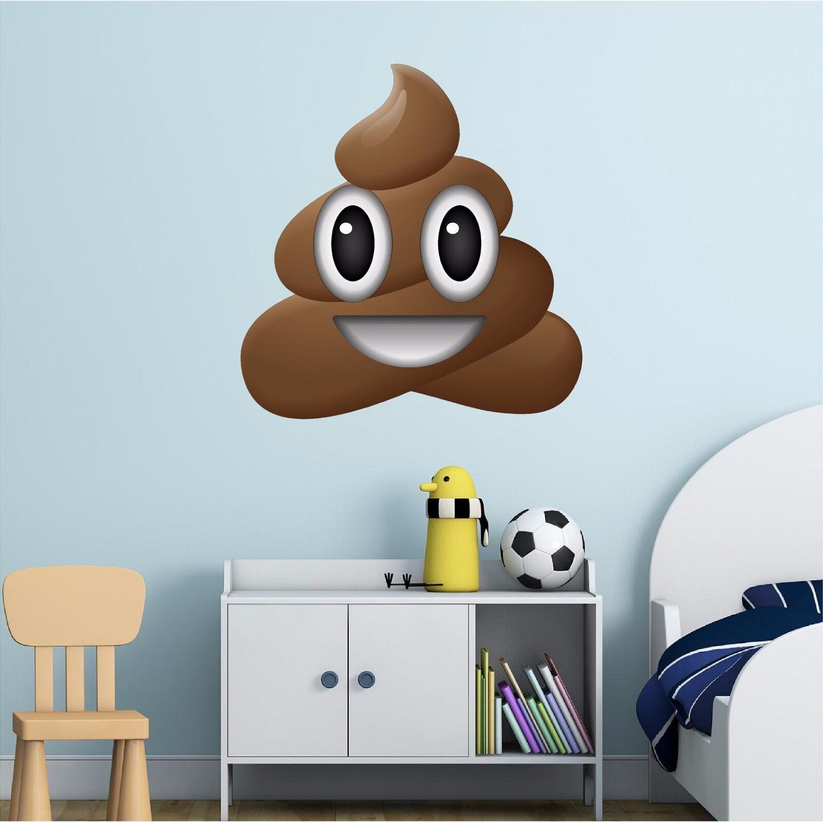 Happy Pile of Poo Emoji Wall Decal Funny Iphone Apple Emoticon Sticker Graphic
