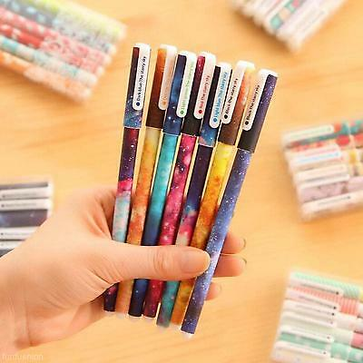 6Pcs 0.38mm Starry Gel Pen Students Office Writting Stationery Watercolor Pen