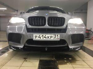 UNPAINTED FRONT LIP SPOILER SPLITTER FOR BMW E71 X6M E70 X5 M 2010 - 2014 ABS
