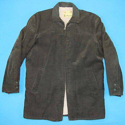 40er Jahre Sportkleidung Cord Vintage Mantel ~ Herren L │ Adams Reißverschluss