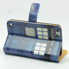 Doctor Who Tardis Leather Card Wallet Flip Case Cover For Ipod Touch 5 5th 6 6th