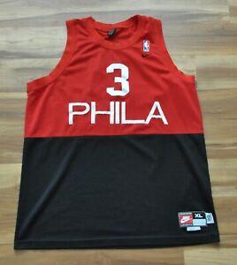 finest selection 16386 a6d95 Details about ALLEN IVERSON Philadelphia 76ers Jersey PHILA Rewind Jersey  Nike Swingman Red XL