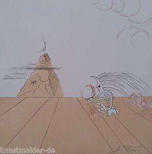 MUSEALE-Salvador-Dali-Original-Radierung-239-Paysage-fossile-imaginaire