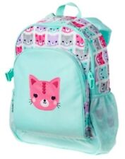 GYMBOREE AQUA w/ KITTY CAT PRINTED BACKPACK w/ CLIPS NWT