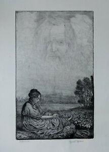 Hans-Thoma-1839-1924-034-Wolkenwunder-034-1915-Radierung-signiert-Probedruck
