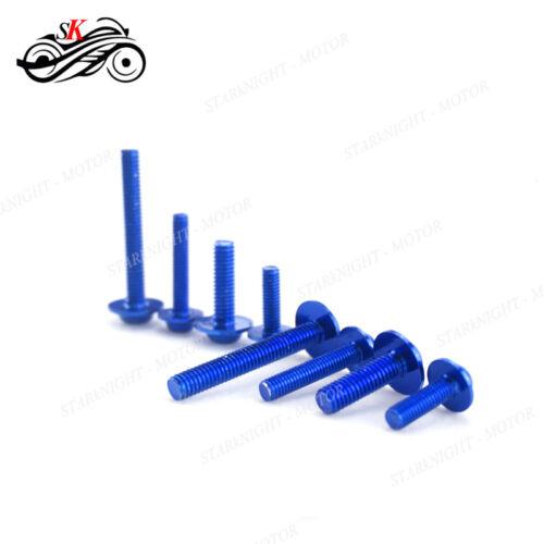 CNC 1 Set Fairing Bolt Kit body screws Clips For Suzuki DL1000//V-STROM 2002-2016