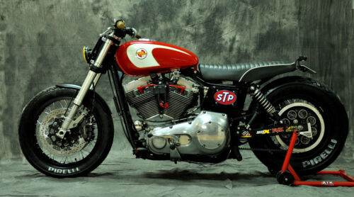 HARLEY DAVIDSON DYNA CUSTOM CAFE MOTORCYCLE POSTER PRINT STYLE A 20x36 9MIL