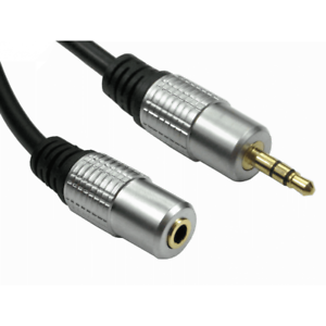 1M Metre 3.5mm Stereo Jack Headphone Extension Cable Aux Audio Lead OFC GOLD
