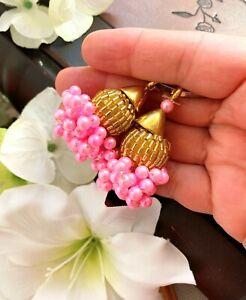 1 Pair Latest Indian Mini Bead Cluster Gold cap Latkans lehenga blouse Dupattas