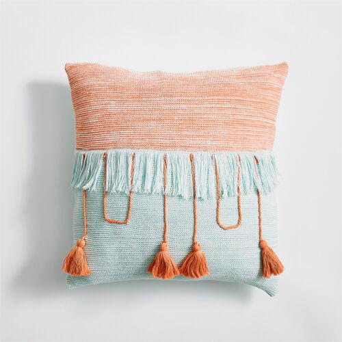 1Pair Tassel Pillow Case Cotton Cushion Cover Sofa Car Throw Holiday Home Decor