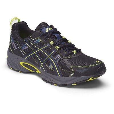 Mens Asics Gel Venture 5 Trail Running Shoes Indigo Blue Black Flash Size 11.5