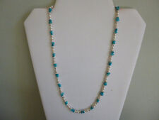 Sleeping Beauty Turquoise And Fresh Water Pearls Native American Style Necklace
