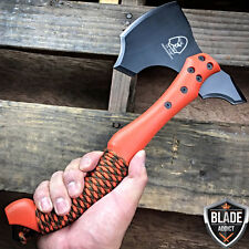"12"" SURVIVAL TOMAHAWK TACTICAL THROWING AXE BATTLE Hatchet Knife Hunting Orange-"