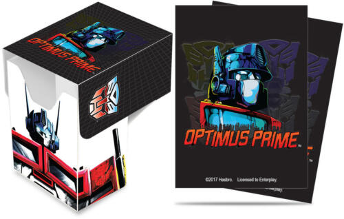 Ultra Pro Transformers Optimus Prime Deck Box PLUS 65ct Sleeves Combo BRAND NEW!