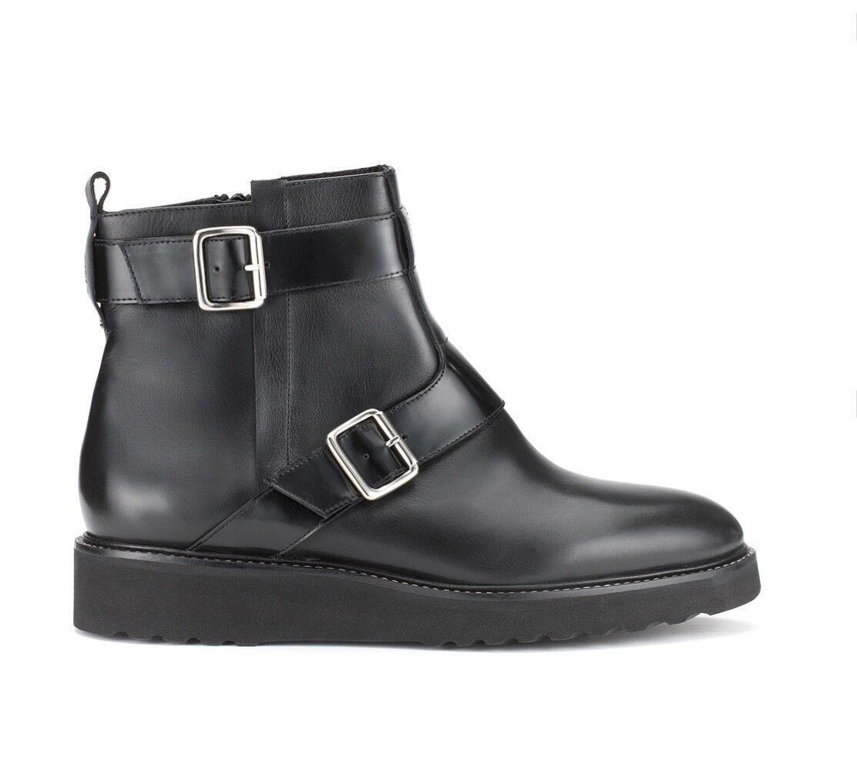 Whistles-AIRA MONACO Boot-Nuovo in Scatola-Nero-Taglia 6-Donna 'S SHOES/Motociclista